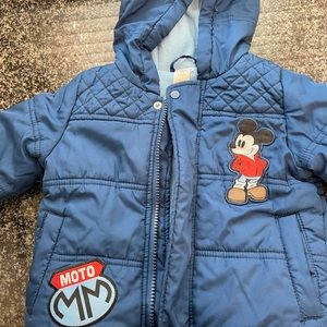 Disney Baby Mickey Mouse Lined Winter Hood Jacket